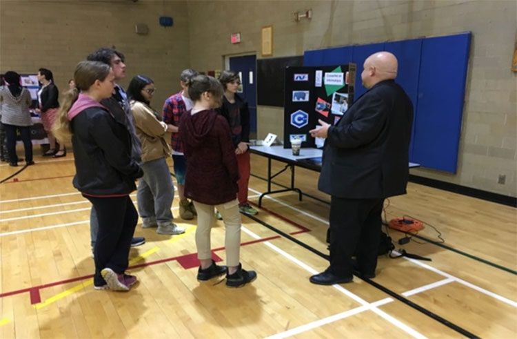 Students participating in the Career Day event