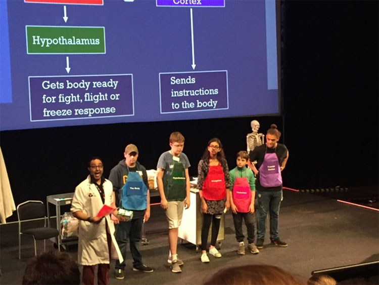 Students participating in the Ontario Science Centre presentation