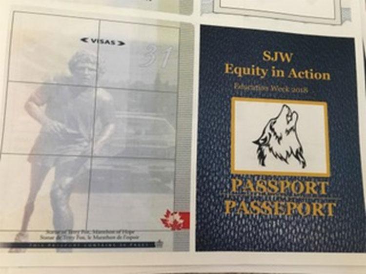 The SJW Equity in Action passport