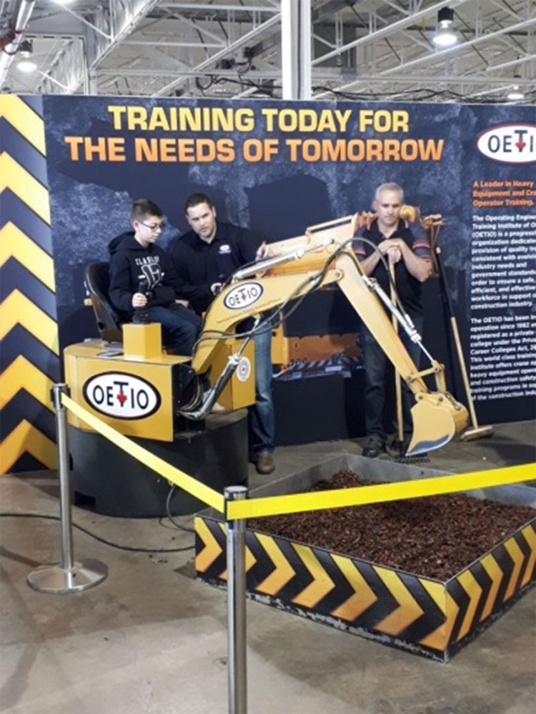 Students visiting the Skills Ontario Competition