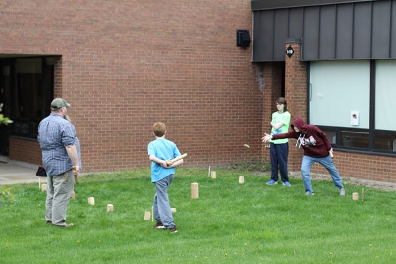 Figure 3: Students participating in games and activities