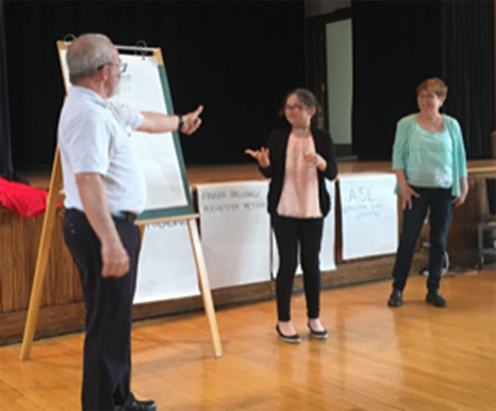 Une élève participant à l'un des ateliers