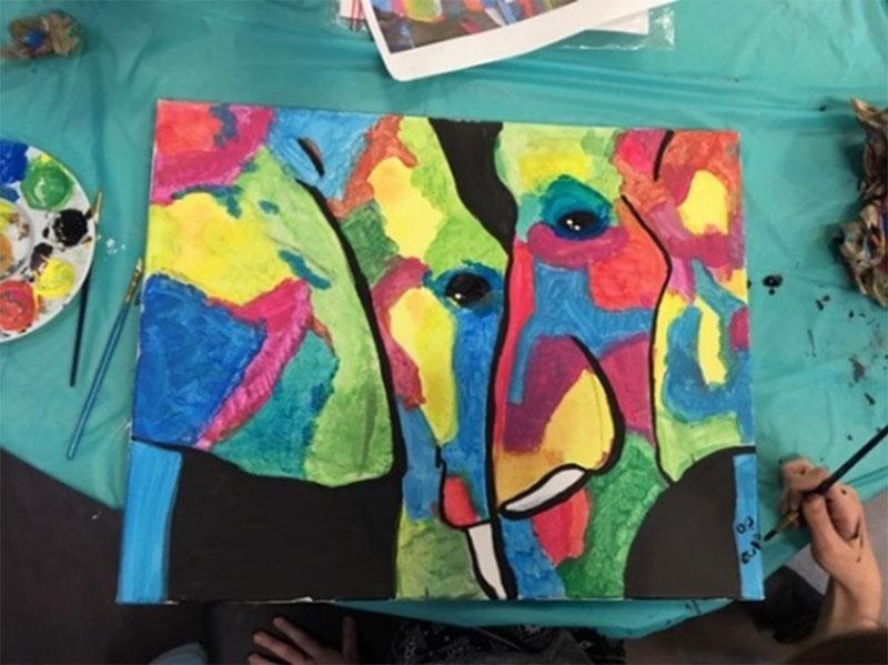 Figure 10 : Œuvre d'art d'un élève